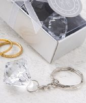 Clear Diamond Design Key Ring Favours